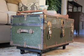 wonderful vintage trunk coffee table with vintage suitcase to a coffee table crafthubs diy old trunk into il