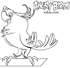 angry birds e coloring page