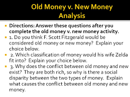 the great gatsby old money v new money ppt video online  7 old