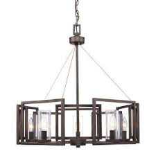 reddington collection 5 light metal bronze chandelier
