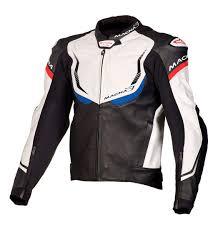 macna exone leather jackets black white blue macna motorcycle clothing nz