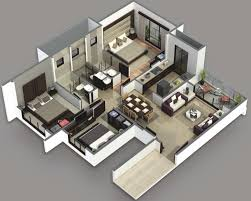 house good design house plan 3 bed room interior plus for 3d plans