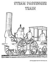 Steel Wheels Train Coloring Sheet Throughout Steam Locomotive ...