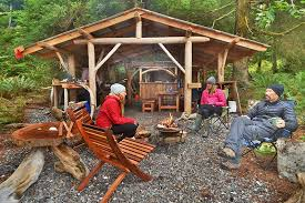 base camp kitchen orca dreams offers kayaking whale watching and luxury camping on compton