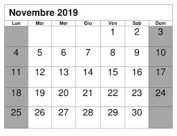 Modificabile Calendario Novembre 2019 Da Stampare