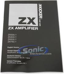 kicker zx300 1 11zx300 1 class a b mono amplifier car amp product kicker zx300 1 11zx300 1