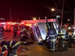 3 hurt in dramatic crash leaving truck on its side - WISH-TV ...
