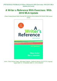 Pdf Download A Writer S Reference With Exercises With 2016 Mla Upd