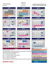 Year To Year Calendar Academic Year Calendar 2017 2018 Families