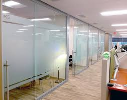 office glass frosting. glass offices with applied frosted privacy film office frosting