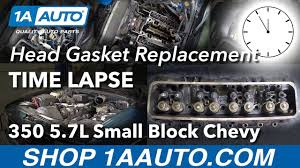Time Lapse - Small Block Chevy Engine 350 5.7L Head Gasket ...