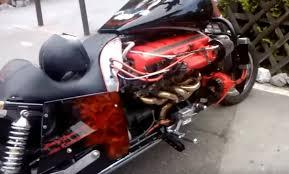 custom built 12 cylinder aston martin motorcycle biker digital