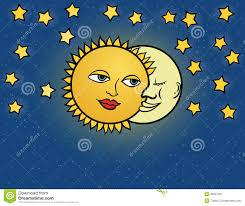 Le Soleil De Lune Illustration De Vecteur Image Stock Image
