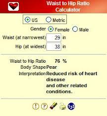 Ideal Waist To Hip Ratio Calculator Sunsigns Org Health