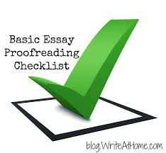 proofreading essay proofreading checklist for the basic essay