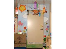 preschool bathroom design. Exellent Design Preschool Mural  Sun Clouds Flowers To Bathroom Design C