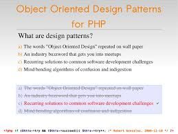 Oop Design Patterns Adorable Object Oriented Design Patterns For PHP