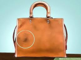 clean ink off leather how to remove pen from purse image titled a coach step stains clean ink off leather how