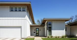 harpanel vertical siding in a modern home