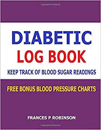 blood pressure readings log diabetic log book keep track of blood sugar readings in this