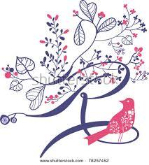 cool letter r cool letter r bird flowers cool stock vector 78257452 shutterstock