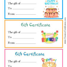 Template Coupon Book Template Happy Birthday Gift Certificate Word