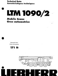 Ltm 1090 4 2 Load Chart Cn Cu Liebherr Ltm 1090 2 Pdf Document