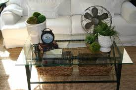 glass top decorating coffee table simple