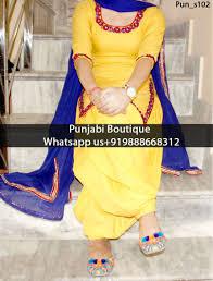 Fb Dress Design Stunning Yellow Mirror Embroidered Punjabi Suit Product Code