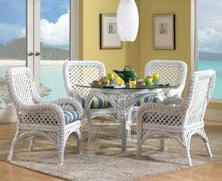 Wicker Dining Set in White