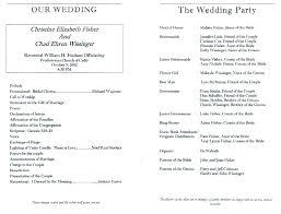 Wedding Program Layouts Simple Sample Reception Wording