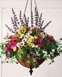 I Wreath Outdoor Safe Florals Meadow Hanging Basket  Foliage From Artificial Wreaths For Front Door