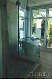 3 8 inch thick tempered frameless glass shower door and customized panels