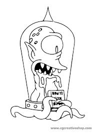 Kodos Lalieno Dei Simpson Disegno Per Bambini Da Colorare