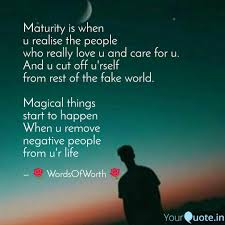 Maturity Quotes Custom Maturity Is When U Realis Quotes Writings By Shubham Rajput