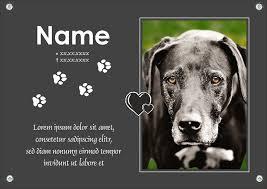 Typ A Gedenktafel Von Ihrem Hund Mit Foto Und Einem Gedicht Spruch