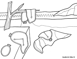 Famous Art Work Coloring Pages Free