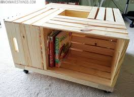 crates become a diy storage ottoman with wood crate ottoman