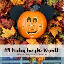 DIY Mickey Pumpkin Wreath – A Magical Kingdom called Home