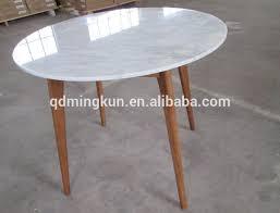 granite top and wood oak leg dining table
