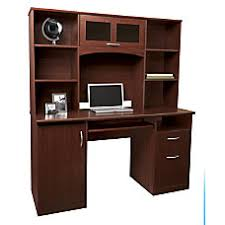 computer desks office depot. Unique Depot Realspace Landon Desk With Hutch Cherry Inside Computer Desks Office Depot U