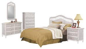 whitewashed bedroom furniture. santa cruz tropical rattan and wicker 5 piece bedroom furniture set whitewash tropicalbedroom whitewashed e