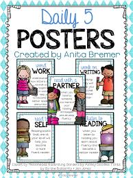 Daily Five Chart Printables 90 Minute Literacy Block These Posters Have Clear