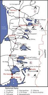 Lake district Cile mappa - Mappa di distretto del lago Cile (America del  Sud - America)
