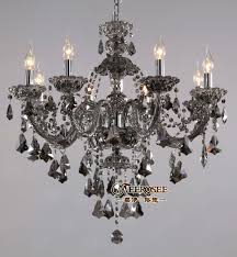 new arrival vintage res crystal chandeliers smoky gray pendelleuchte light fixtures with 8 glass arms md8221s chandeliers glass chandeliers