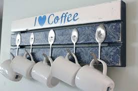coffee mug rack countertop pallet coffee mug holder with spoon hooks muggle shakes coffee mug rack countertop