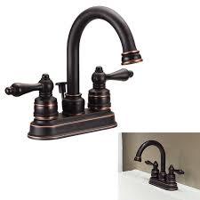 aquaplumb two handle high arc bathroom faucet swivel spout oil rubbed bronze greydock com