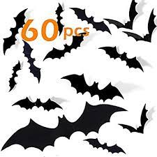 Plus, check out four more halloween decor diys you can craft on the cheap, below. Amazon Com Halloween Bats Decorations 60 Pcs 3d Scary Pvc Paper Bats For Wall Decor Scary Diy Flying Bats Stickers Halloween Indoor Decor Home Window Decoration Set Kitchen Dining