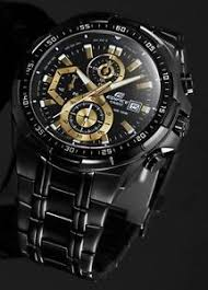 imported casio efr 539bk chronograph mens watch black dial full images