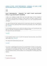 Sample Termination Letter For Poor Performance Best Of Notice Of